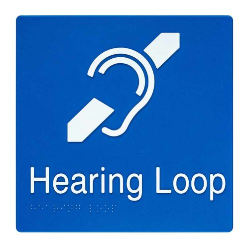 Braille Sign Hearing Loop