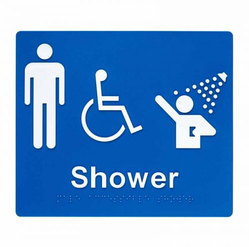 Braille Sign Male Shower