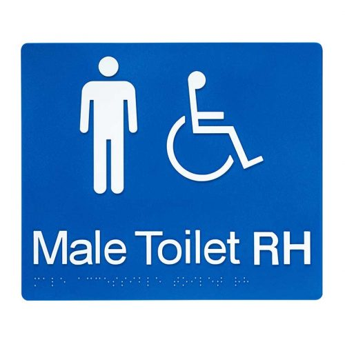 Braille Sign Male Toilet