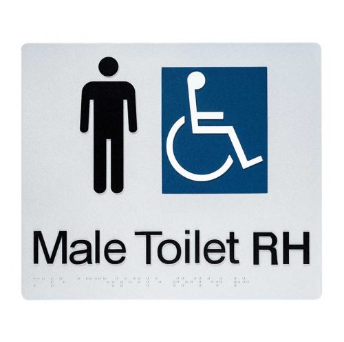 Braille Sign Male Toilet RH