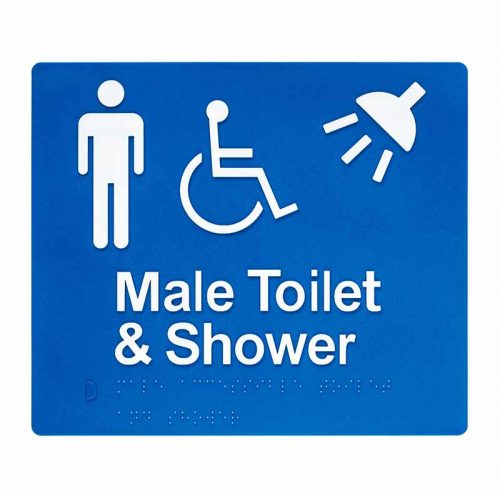 Braille Sign Male Toilet and Shower