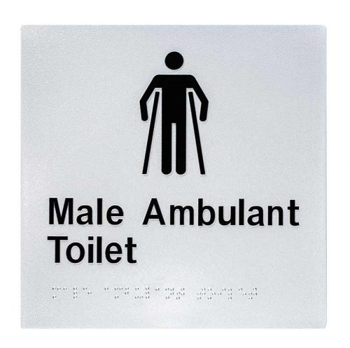 Braille Sign Male Ambulant Toilet