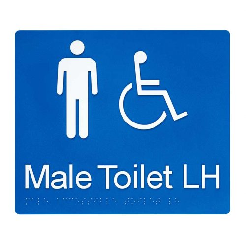 Braille Sign Male Toilet LH