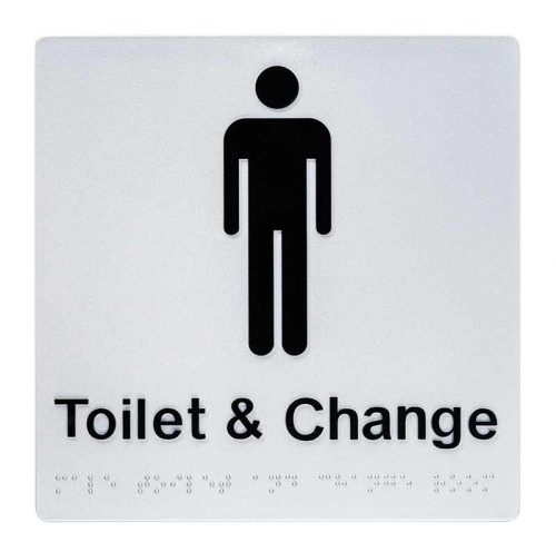 Braille Sign Male Toilet and Change