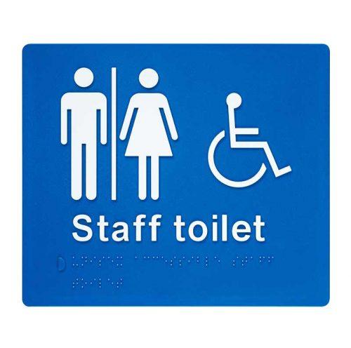 Braille Sign Unisex Staff Toilet