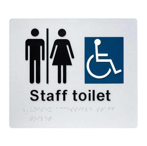 Braille Sign Unisex Staff Toilet