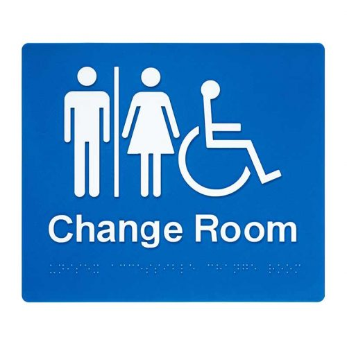 Braille Sign Unisex Change Room