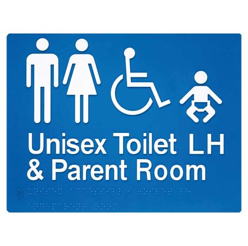 Braille Sign Unisex Toilet and Parent Room