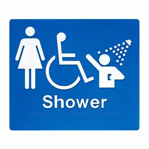 Braille Sign Shower