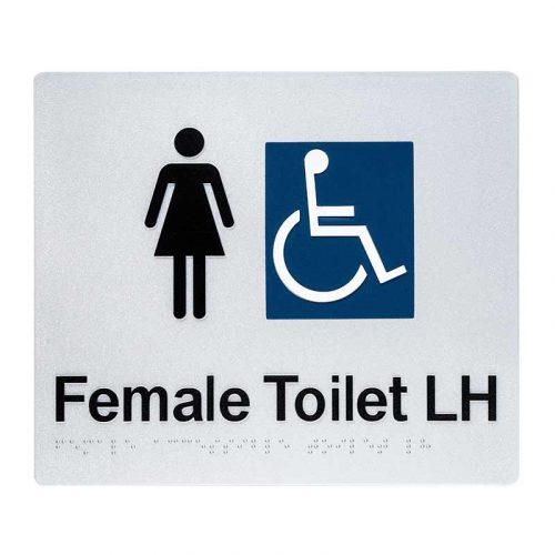 Braille Sign Female Toilet LH