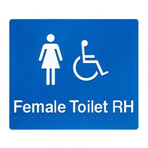 Braille Sign Female Toilet RH