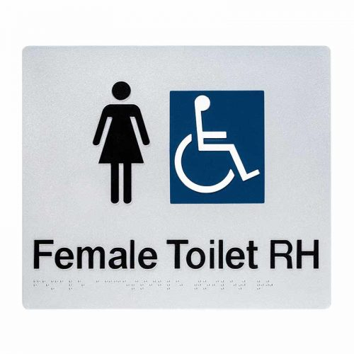 Braille Sign Female Toilet RH