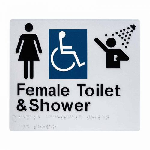 Braille Sign Female Toilet and Shower