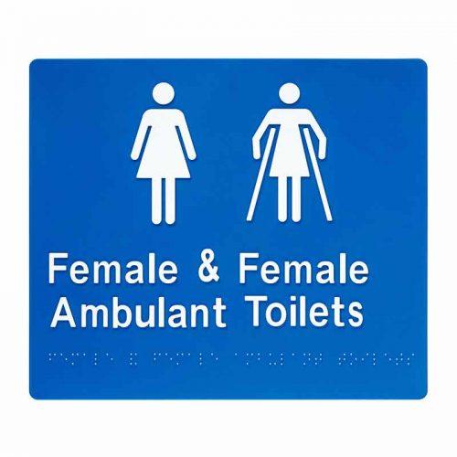 Braille Sign Female Ambulant