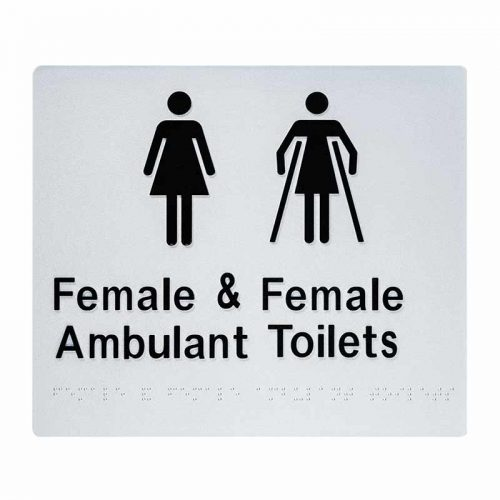 Braille Sign Female Ambulant