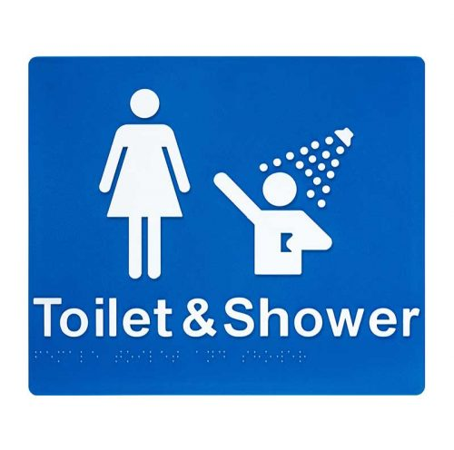 Braille Sign Toilets and Shower