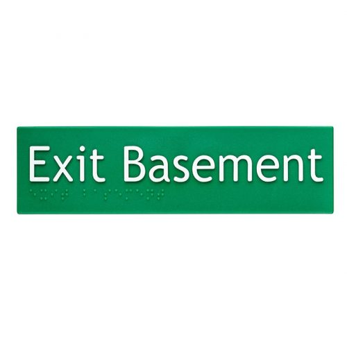 Braille Sign Exit Basement