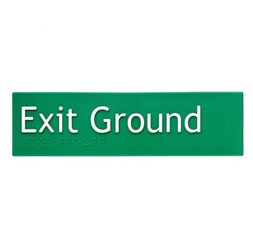 Braille Sign Exit Ground