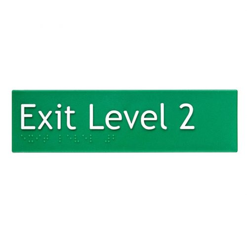 Braille Sign Exit Level 2