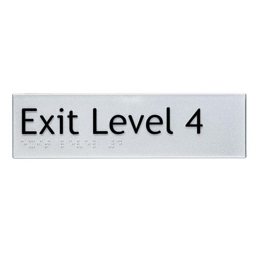 Braille Sign Exit Level 4