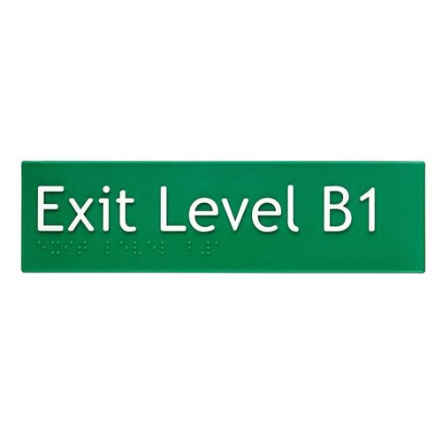 Braille Sign Exit Level B1