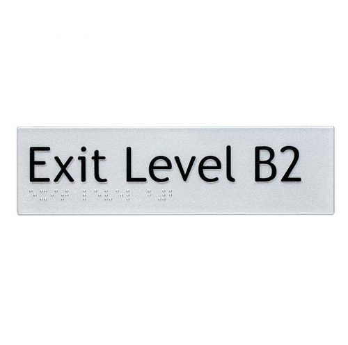 Braille Sign Exit Level B2
