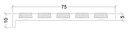 SR5-75X10X5 Series 5 Stair Nosing