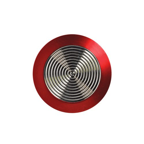 Tactile Stainless Steel with Red Rim