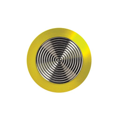 Tactile Stainless Steel with Yellow Rim