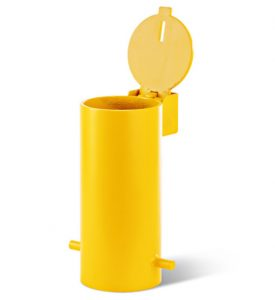 BRM-90-YEL Removable Bollard with Padlock secured Sleeve