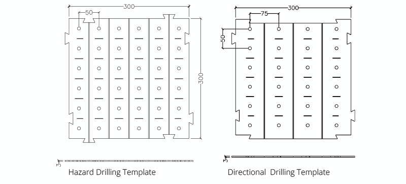 DTP-30X30-TSA Directional and Hazard Drilling Template