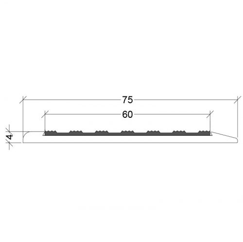 CS1-75X0-TI Stair Nosing Classic Series 1